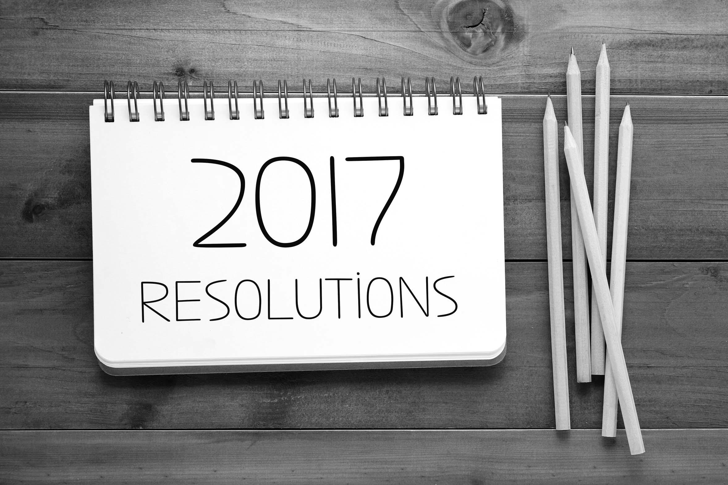 les bonnes resolutions pour 2017